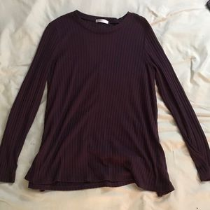 Simple Purple Long Sleeve Shirt